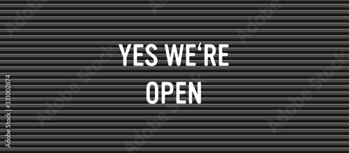 yes we're open letter board Canvas Print