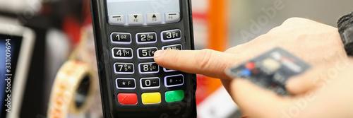 Fototapeta Pay with no cash obraz