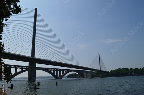pont de l iroise brest finistère bretagne Canvas Print