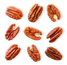Peeled Pecan Nuts Close-up On ...