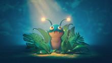 Cute Alien Creature Hiding In ...
