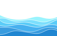 Abstract Deep Blue Wave Layer Alternating Vector Background Illustration
