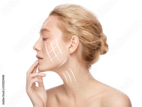 Fotografia Face lift and anti aging concept