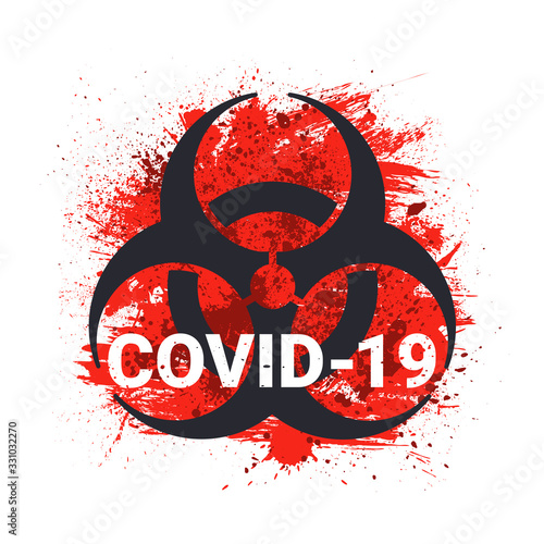 Leinwand Poster COVID-19 Biohazard Sign