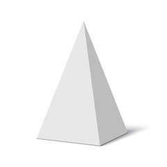 White pyramid. Vector illustration.