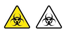 Bio Hazard Sign Symbol Icon Vector Isolated On Whit
