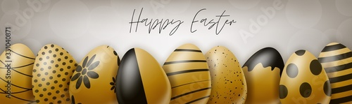 Happy Easter holiday banner or newsletter header Canvas-taulu