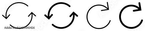 Fotografia Arrow rotation circle. Vector illustration