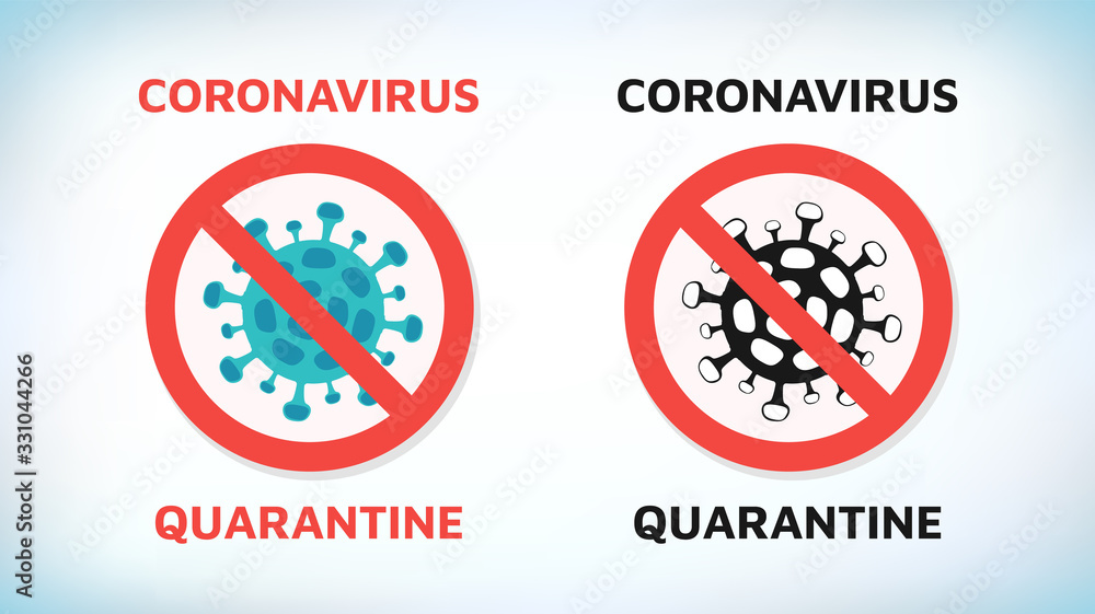 Fototapeta Coronavirus. Chinese coronavirus outbreak. Stop coronavirus. Coronavirus wuhan sars illness. Antibacterial sign set. Bacteria kill symbol. Control infection. Germ kill. Infection icon. Coat isolated.