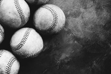 Baseball Background With Group...