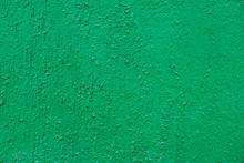 Blank Concrete Wall Green Colo...