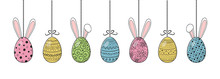 Easter Decoration With Colorfu...