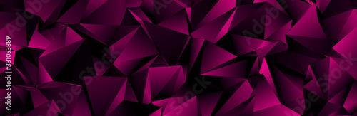 Fotografia, Obraz Triangular 3d, modern background