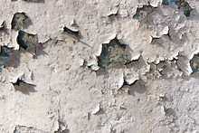 White Dirty Peeled Plaster Wal...