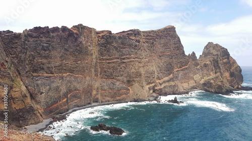 Madère, falaises abruptes de Ponta de São Lourençe Canvas Print
