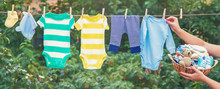 Washing Baby Clothes. Linen Dr...