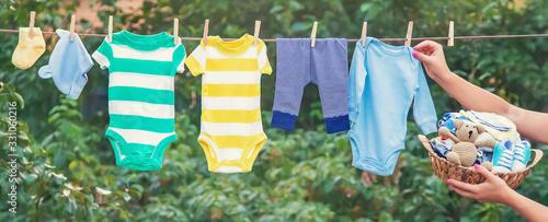 Fotografía washing baby clothes