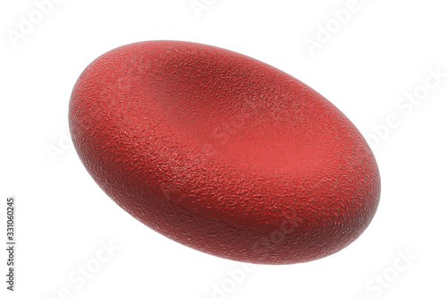 Photo 3d red blood cell isolated on white backgroun