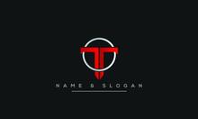 T ,TT  Letter Logo Design With...
