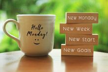 Hello Monday Concept With Insp...