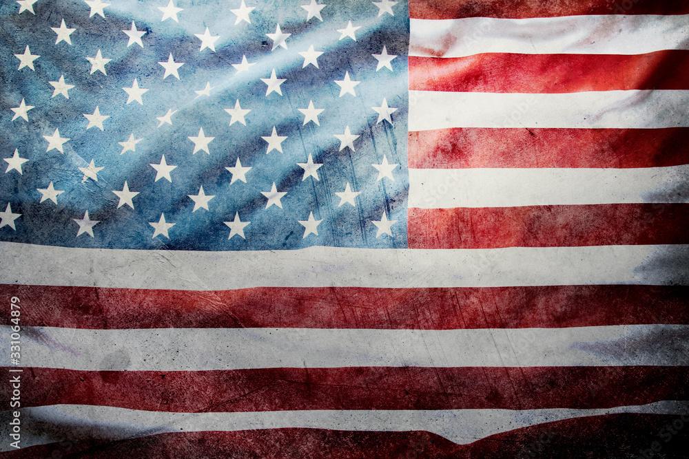 Fototapeta Grunge American flag