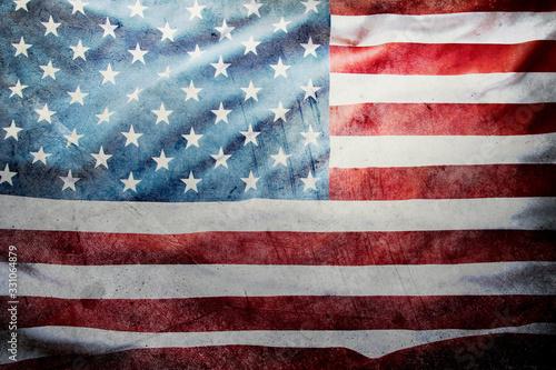 obraz dibond Grunge American flag
