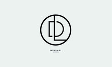 Alphabet Letter Icon Logo DL O...