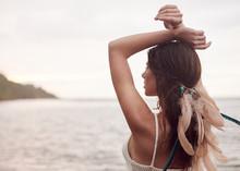 Girl In An Indian Headdress, P...