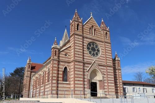 Obraz na plátně Eglise catholique Saint Barthélémy à Genas construite en 1876 - ville de Genas -