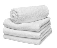 Towel Cotton Bathroom White Spa Cloth Textile