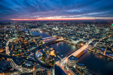 Aerial View Of The London Skyl...