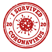 I Survived Coronavirus Sign Or Stamp