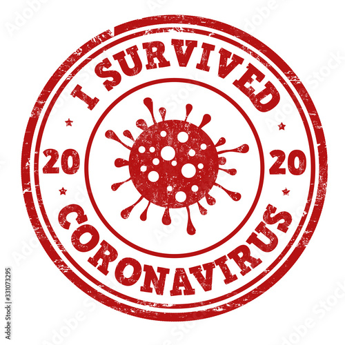 Cuadros en Lienzo I survived coronavirus sign or stamp