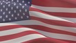 Waving flags of the world - American Flag. 3D illustration.