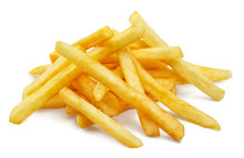 Potato Fries, Isolated On Whit...
