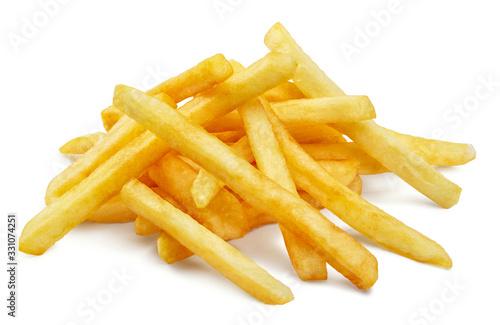 Fotografia, Obraz Potato fries, isolated on white background
