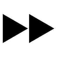 Fast Forward Button Icon. Medi...