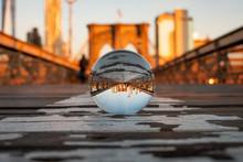 Brooklyn Bridge Arch Through Lensball