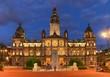 George Square City Hall Glasgow at night