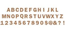 Giraffe Font Lettering. Cartoo...