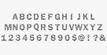 Zebra Print Font.90s Style.vec...