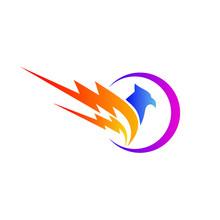 Thunder Bird Logo Design Vector