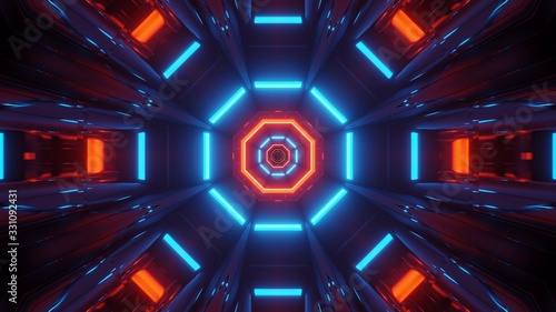 Photo Cosmic background with colorful blue and red laser lights - perfect for a digita