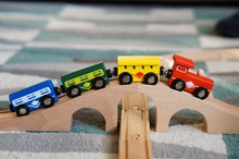 Closeup Shot Of A Toy Train On...