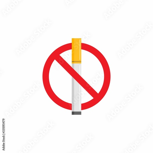 No Smoking Icon : Healthcare Theme, Infographics and Other Graphic Related Assets Canvas Print