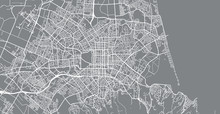 Urban Vector City Map Of Chris...