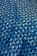 Detail Of Commercial Fish Net Covering Blue Tarpaulin,Seattle