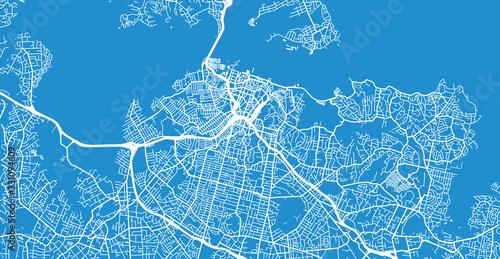Photo Urban vector city map of Auckland, New Zealand