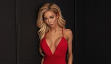 Sensual Woman In Red Dress.