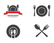 Fork,spoon Logo Vector Illustr...